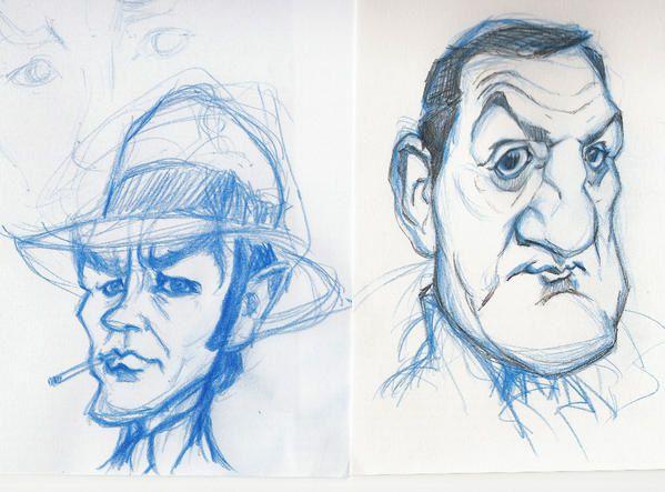 Caricatures et Portraits - Page 2 Delon-ventura