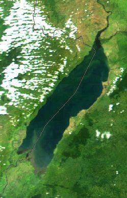 Lac Albert Lake_Albert_-Uganda-_-NASA-