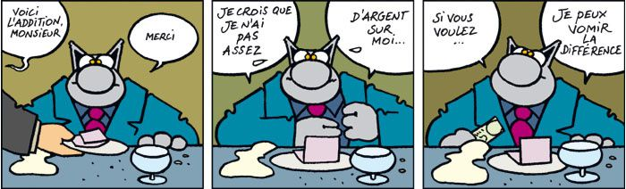 "Commentaire de ""FIVE"" Ectac.Philippe-Geluck.le-chat0214"