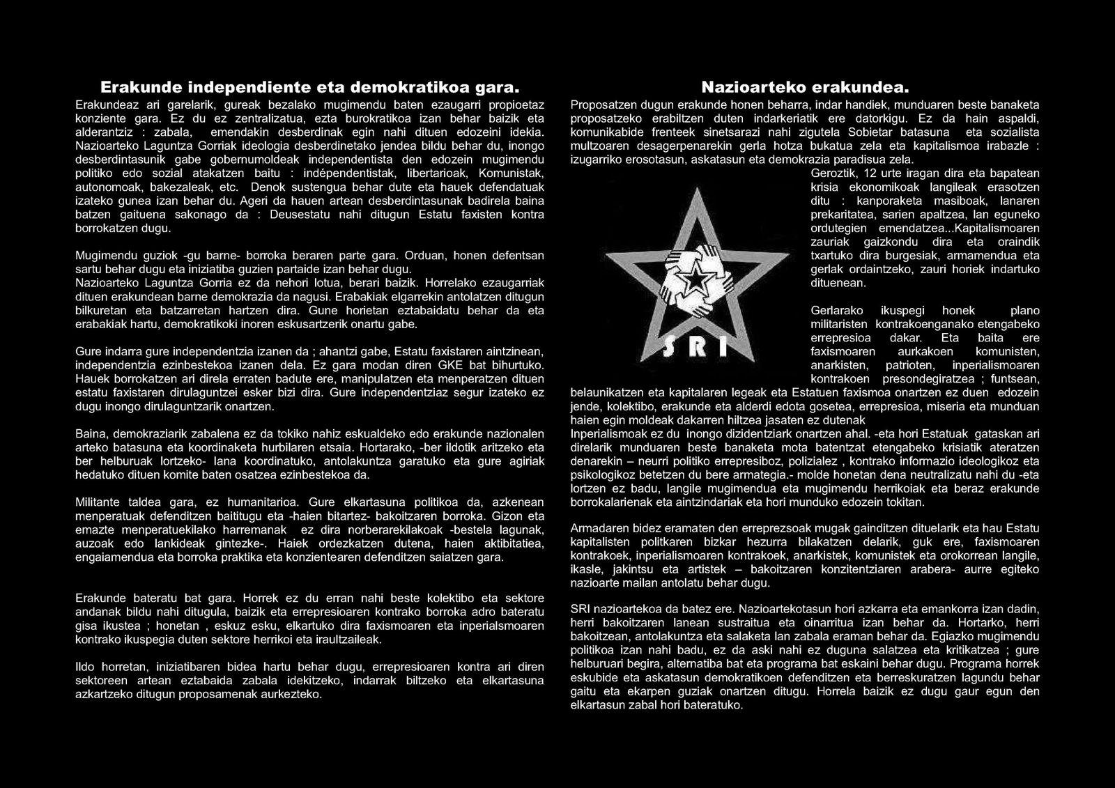 Socorro Rojo Internacional - SRI -  3-ITZULPEN-SRI
