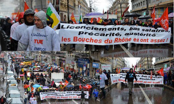Marseille dans la rue conte le gouvernement/Medef Marseille-18janvier2014