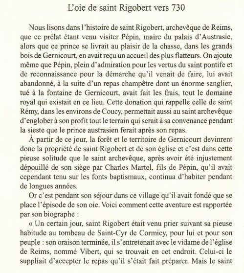 St Rigobert: Sa chapelle à Gernicourt et la légende de son oie Legendes-aisne--oie-st-Rigobert-gernicourt-1a