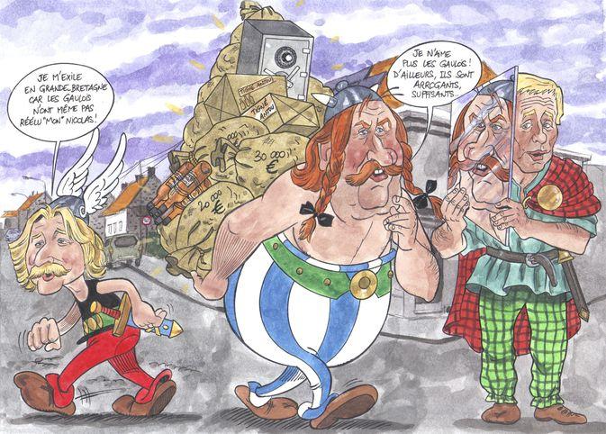 Pastiches, detournements, plagia de vos personnages préférés ! - Page 10 Obelix-chez-les-belges-dessin