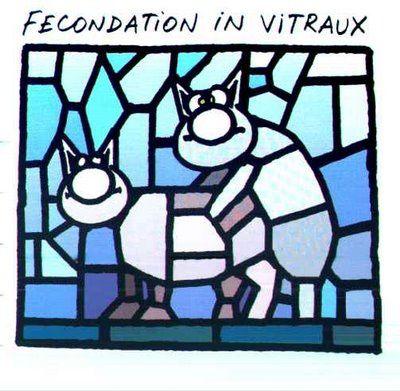 Benoit XVI démissionne. - Page 2 Le-chat-fecondation-in-vitraux