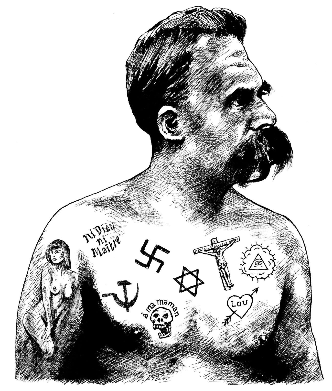 Illustration, illustrateurs (contemporains) Nietzsche_Frederic-Pajak