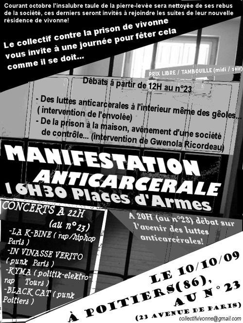 Vienne - Scènes de violences dans les rues de Poitiers Prison