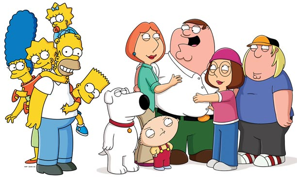 The Simpsons Simpsons-family-guy