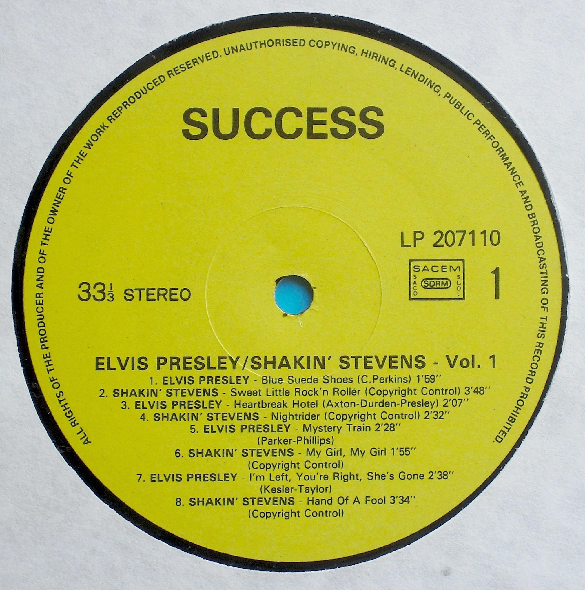 ELVIS PRESLEY & SHAKIN`STEVENS VOL. 1 03s1h6ujn