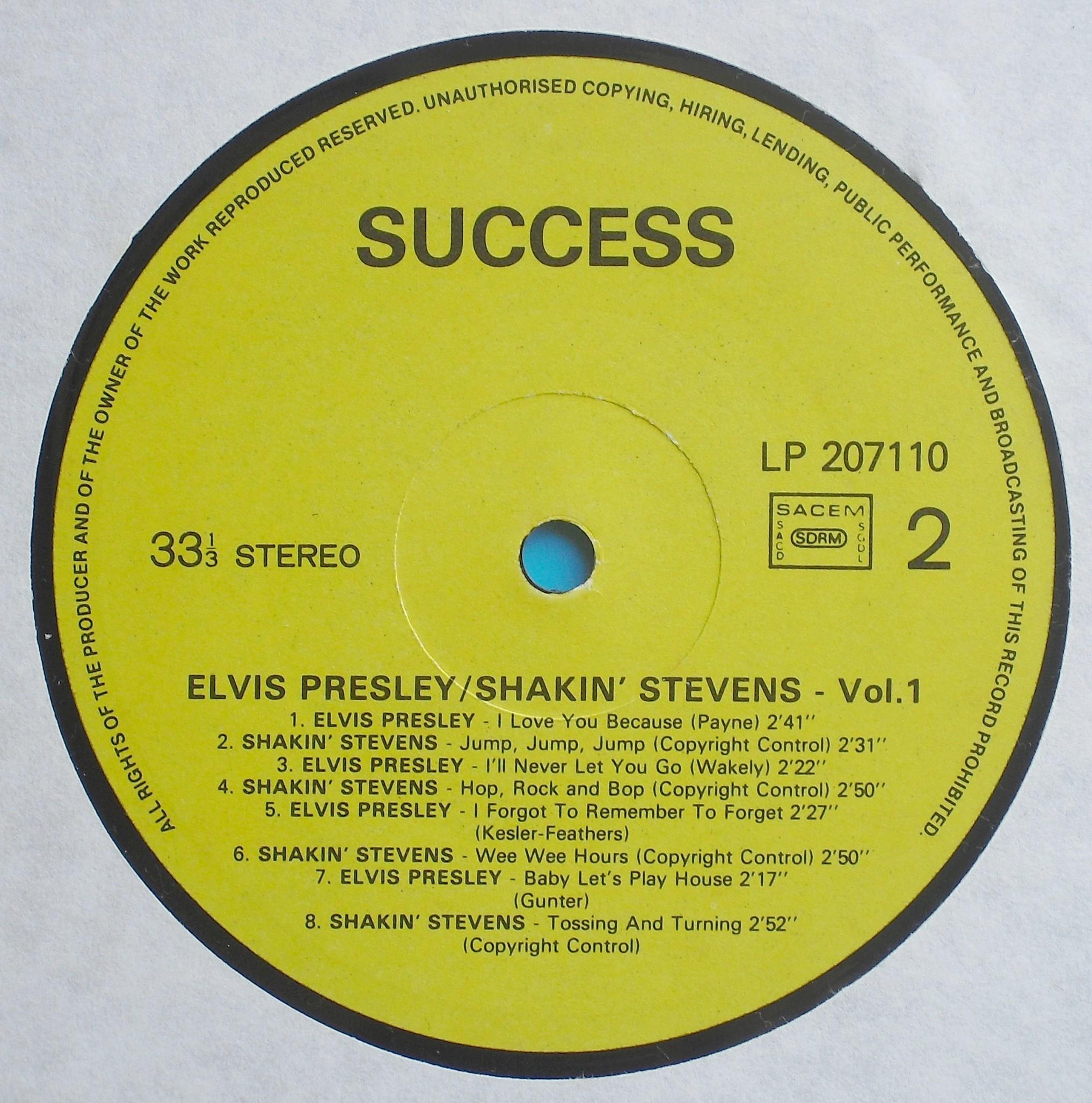ELVIS PRESLEY & SHAKIN`STEVENS VOL. 1 03s21huh6