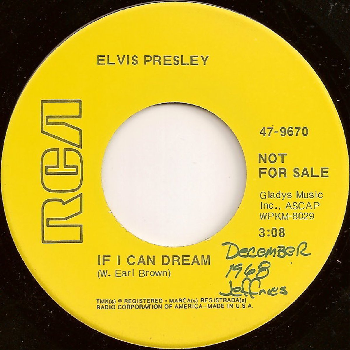 If I Can Dream / Edge Of Reality 47-9670armkhr