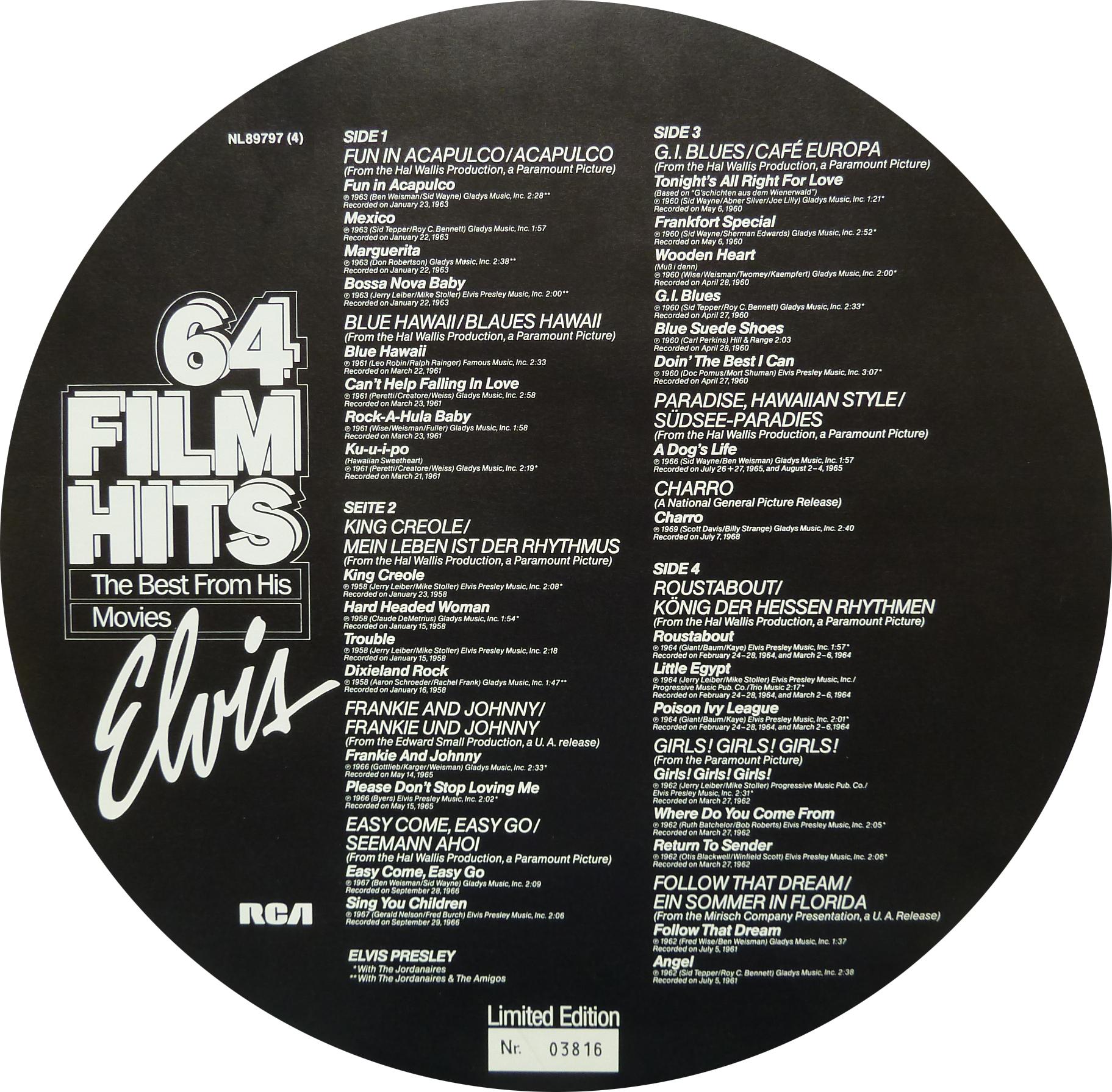 64 FILM HITS 64filmhitsbeiblattseifbpgl