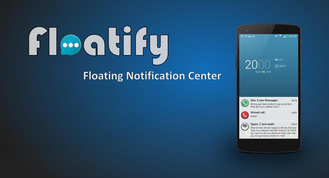 Aplikace Floatify v3.00 - Stacked oznámení, rozšiřitelné, lockscreen, xHalo .. Av4.0041uz3