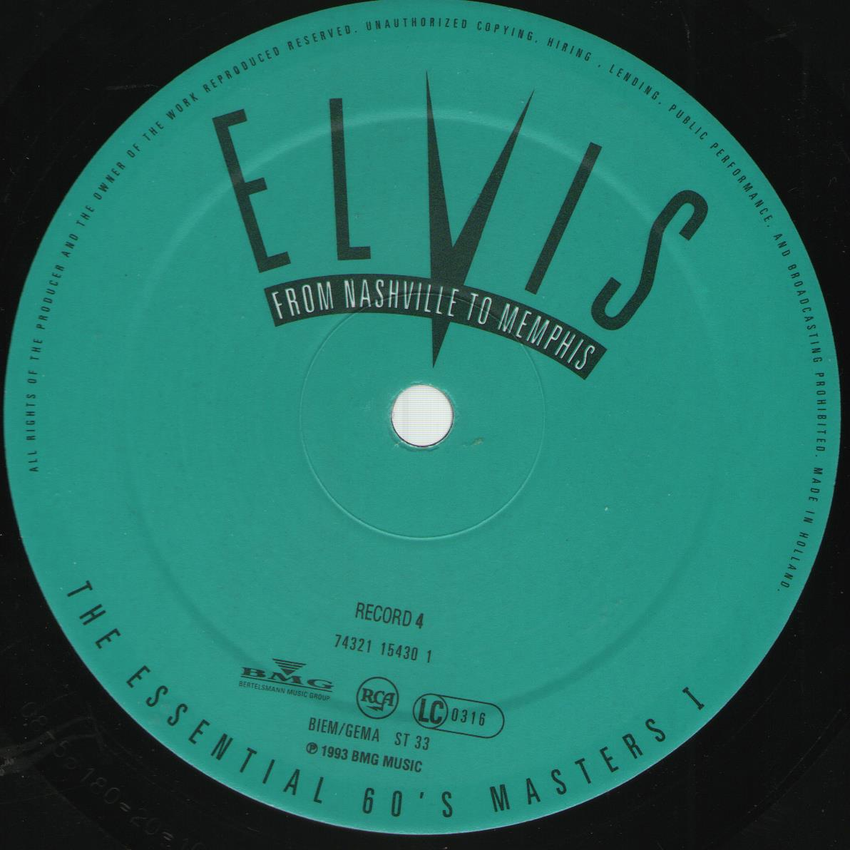 ELVIS - FROM NASHVILLE TO MEMPHIS - THE ESSENTIAL 60'S MASTERS Bild73ys8n