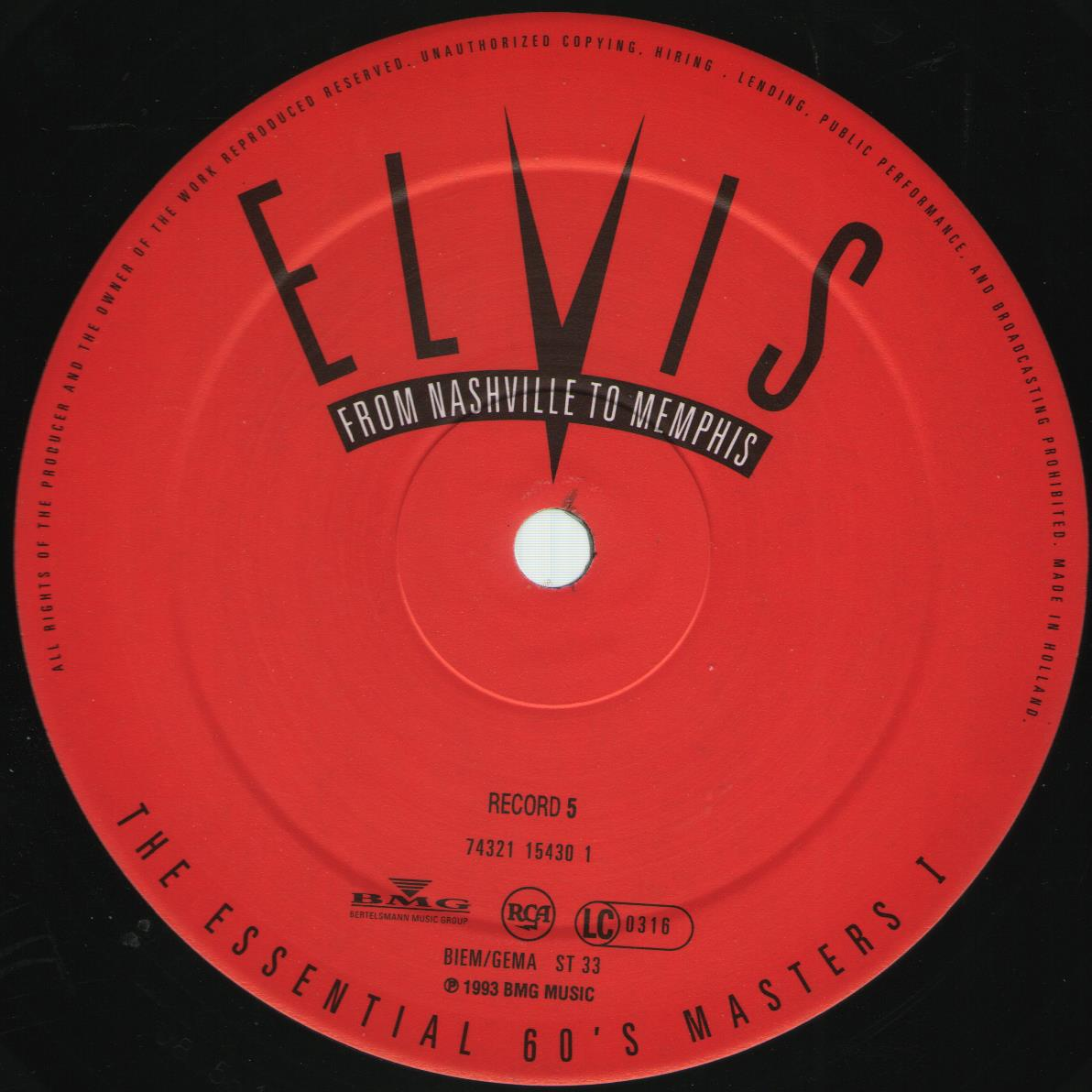 ELVIS - FROM NASHVILLE TO MEMPHIS - THE ESSENTIAL 60'S MASTERS Bild9f0lwu