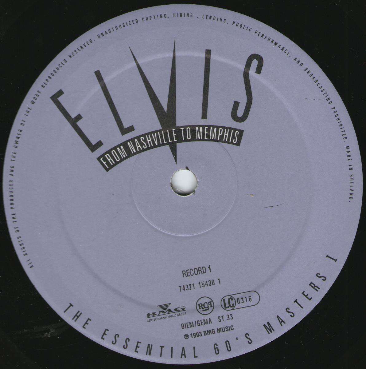 ELVIS - FROM NASHVILLE TO MEMPHIS - THE ESSENTIAL 60'S MASTERS Bildd3pw0