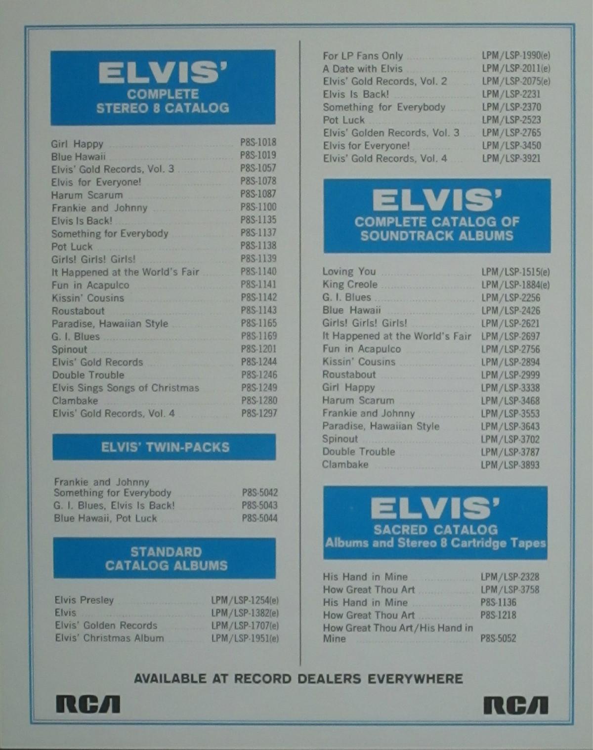 ELVIS' GOLD RECORDS VOL 4 Bonus-egr4bxjzrv