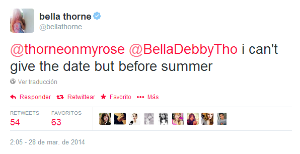 Bella Thorne ⇨ Preparando álbum debut Callitwhateverbeforelfukp