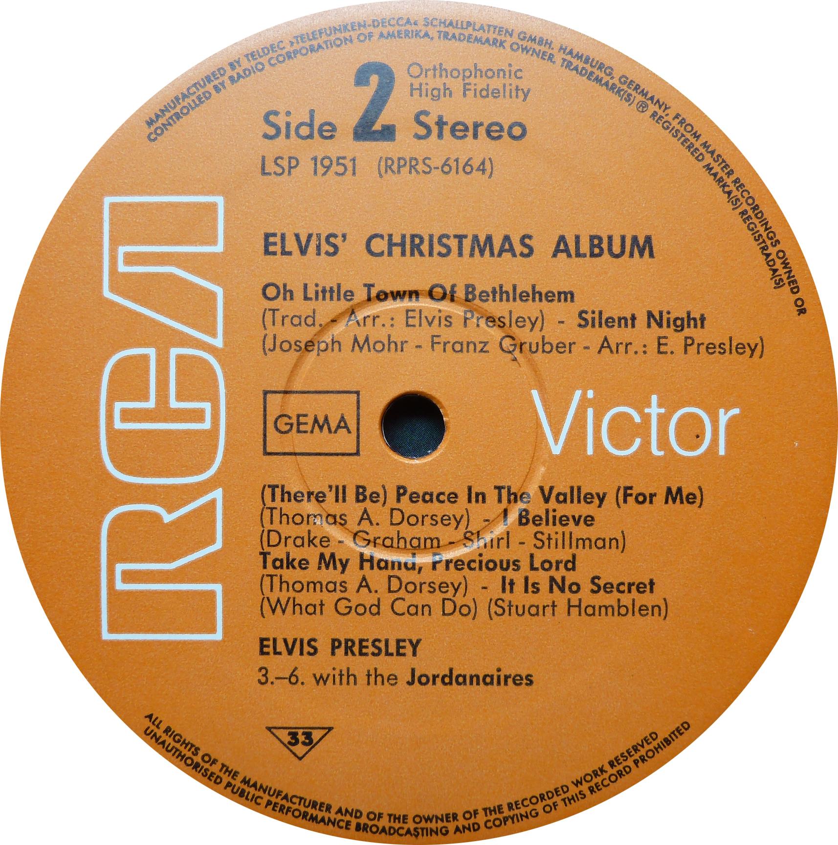 ELVIS' CHRISTMAS ALBUM (1964) Christmasalbum1968siddsuob