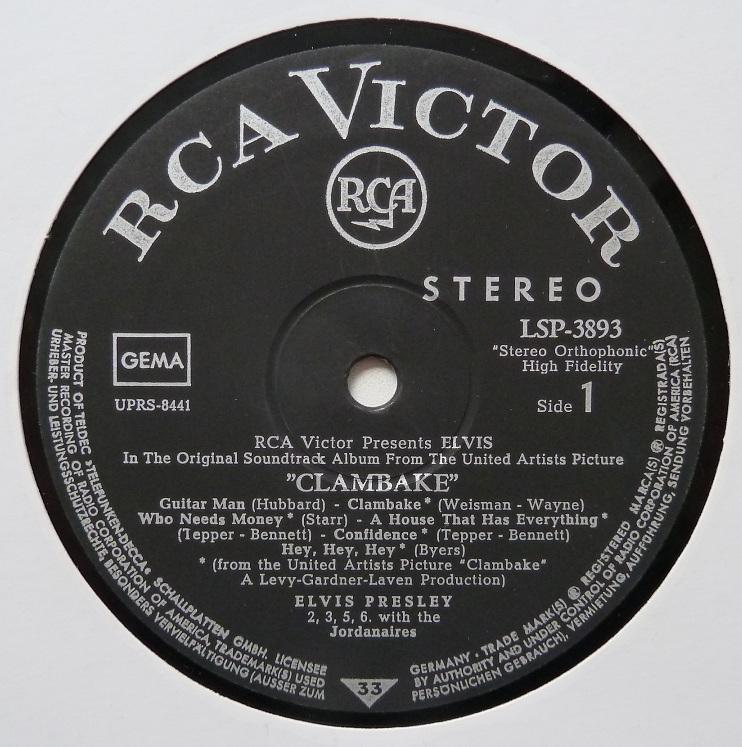 RCA LP-Label-Spiegel der Bundesrepublik Deutschland Clambake68side1vfx9d