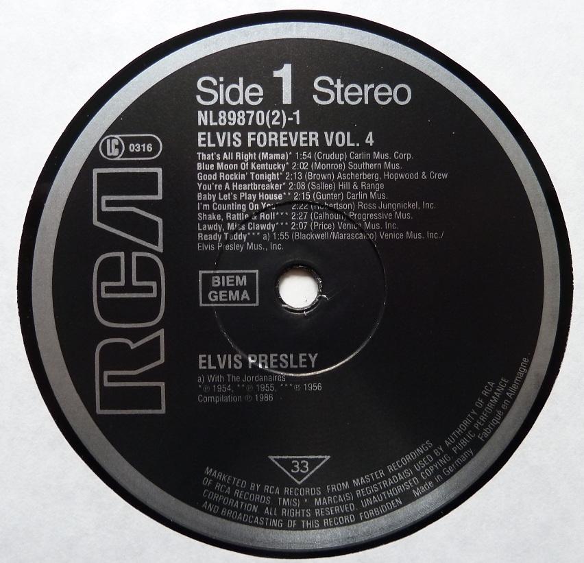 ELVIS FOREVER Vol. 4  Elvisforever486side1b6bkc
