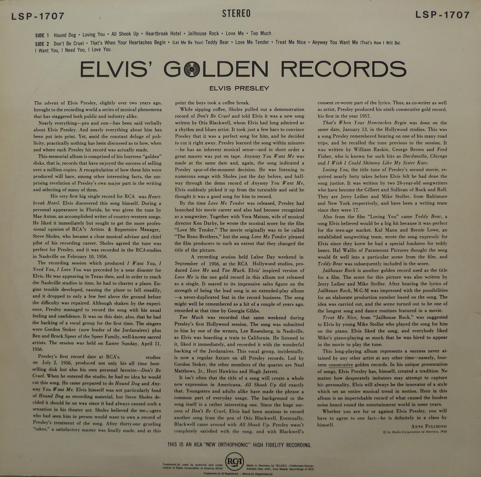 ELVIS' GOLDEN RECORDS Elvisgoldenrecords66a9cbs7