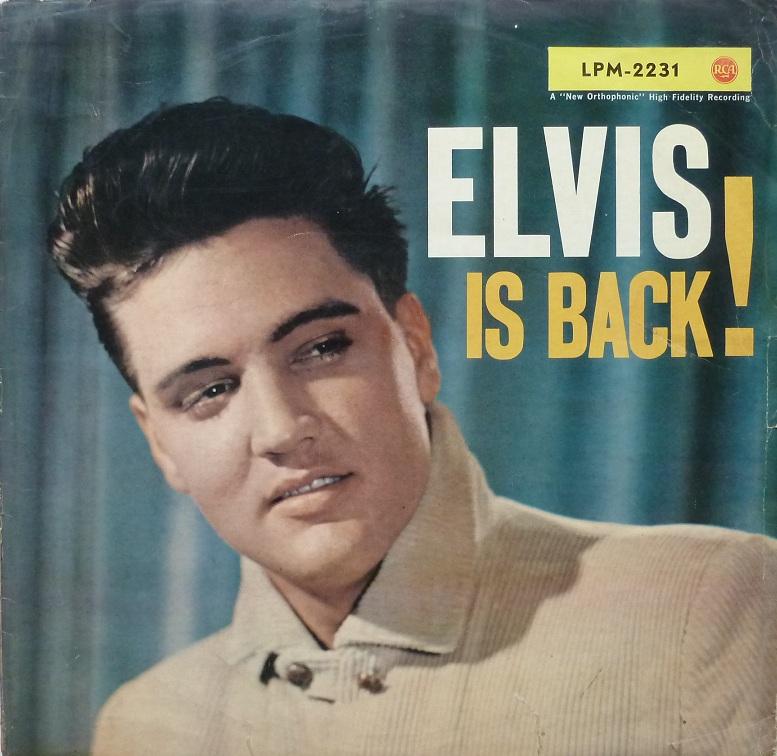 ELVIS IS BACK! Elvisisbacklpm60front42y9s