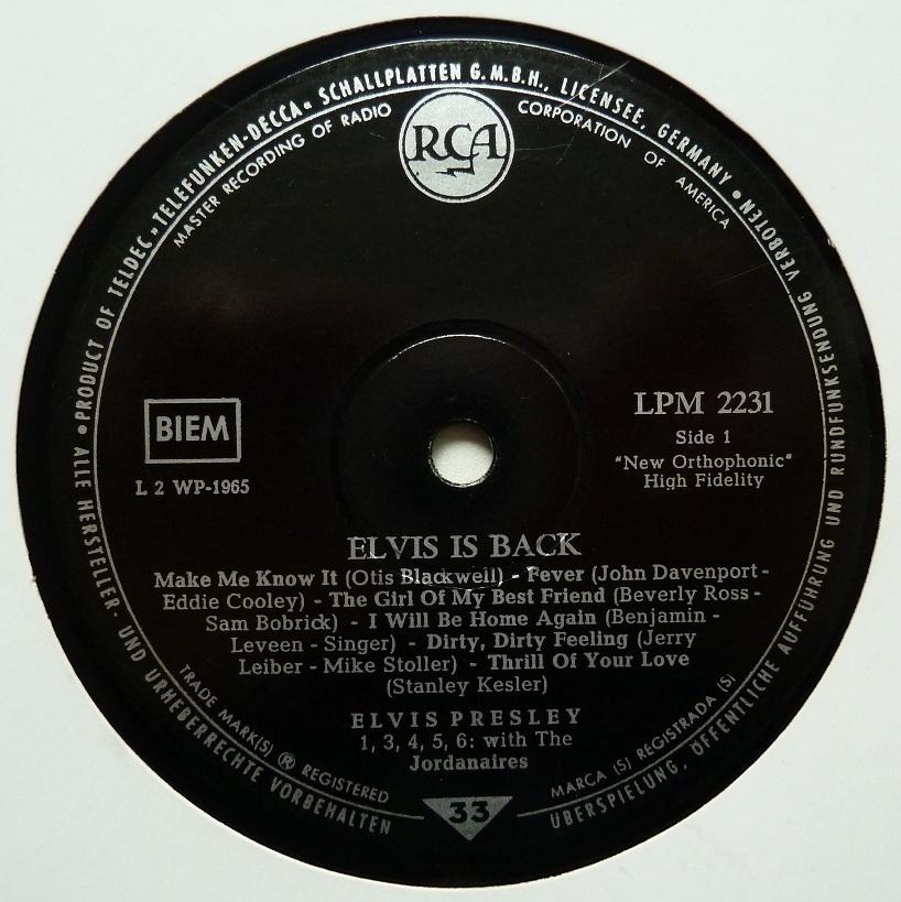 ELVIS IS BACK! Elvisisbacklpm60side16fxwg