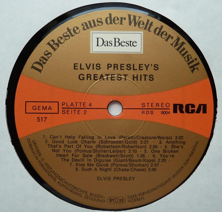 RCA LP-Label-Spiegel der Bundesrepublik Deutschland Greatesthits75dwseitecuuvf