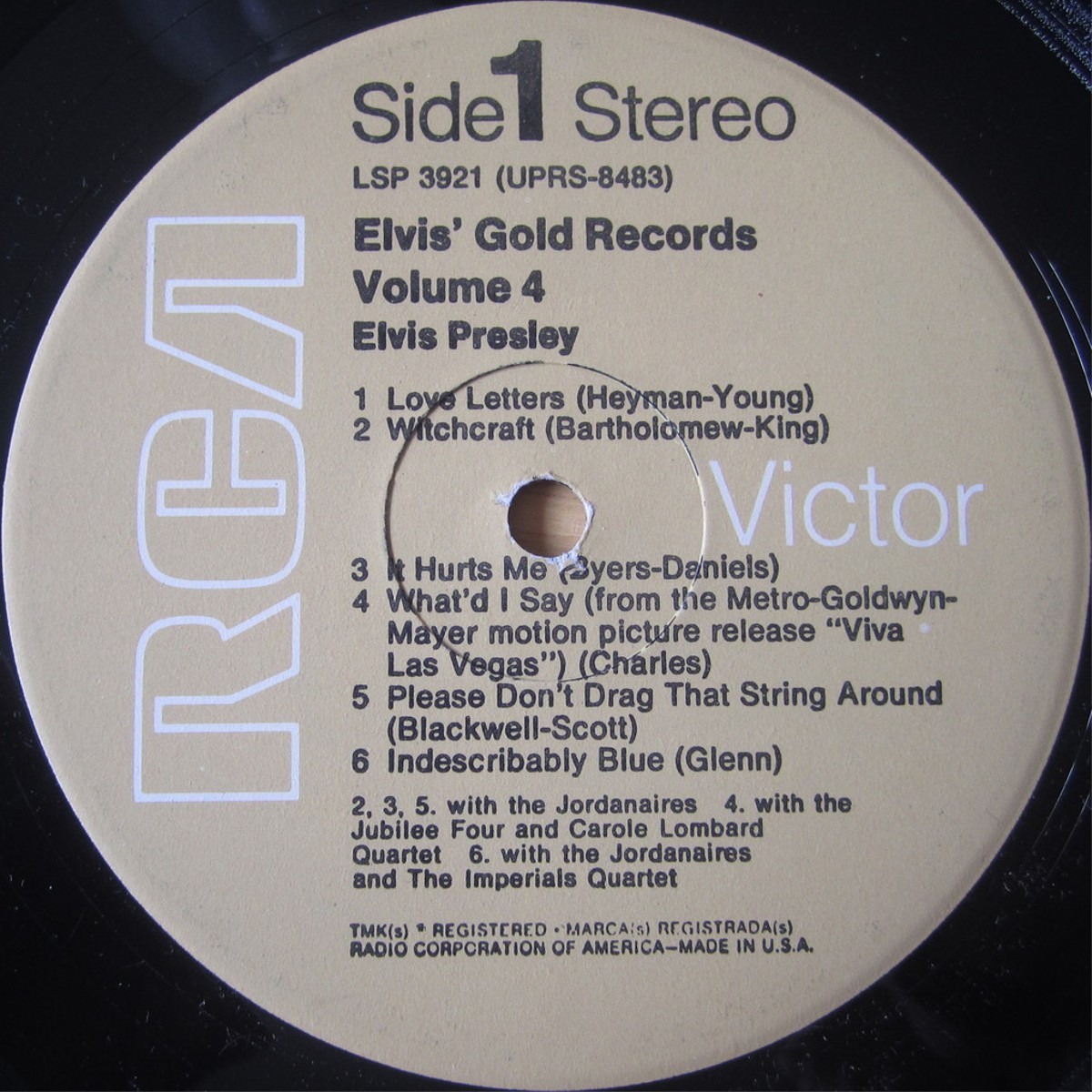 ELVIS' GOLD RECORDS VOL 4 Lsp3921cexum4
