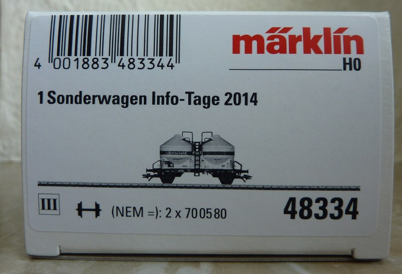"Märklin 48334 Sonderwagen Info-Tage 2014 ,,Lokstreusand"" P1120509p2rm1"