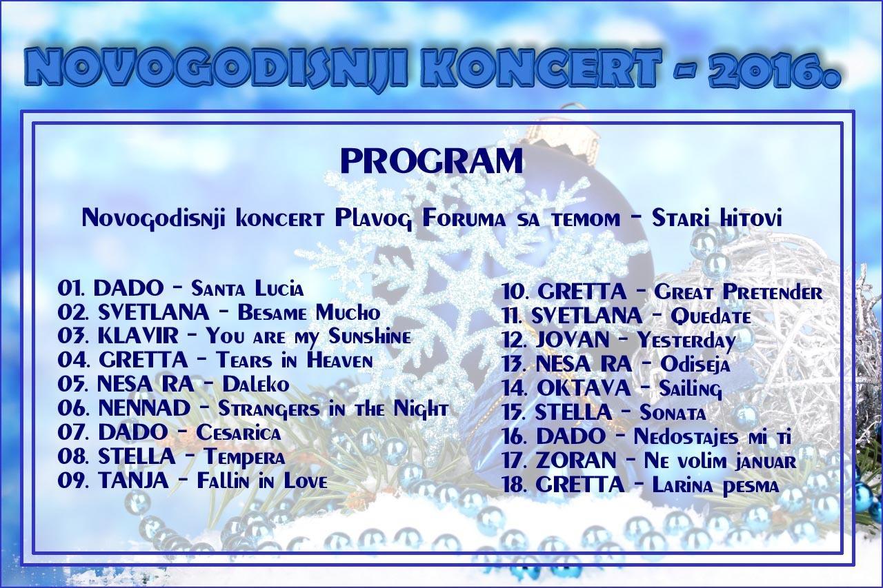5 - NOVOGODISNJI KONCERT - 2016. - STARI HITOVI Program8asxh