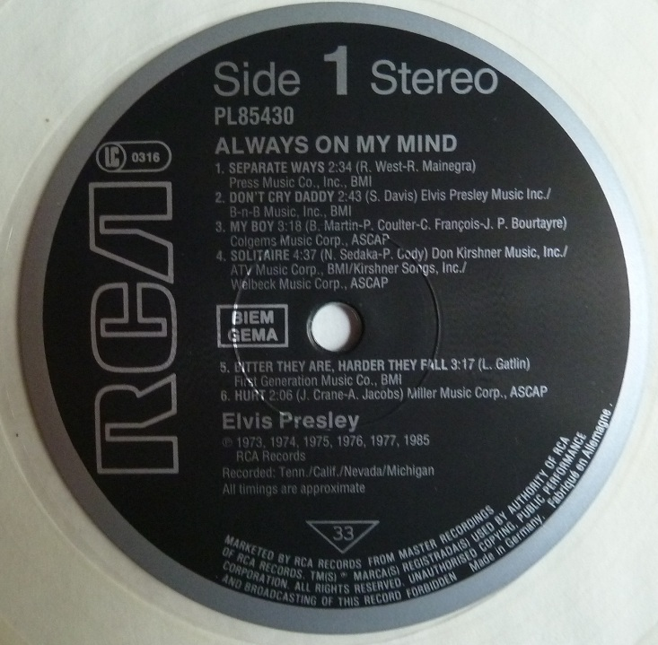 RCA LP-Label-Spiegel der Bundesrepublik Deutschland Sn47iue8