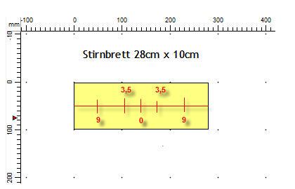 Module 100 x 30cm - Petit, court et beau Stirnbrett56sqt