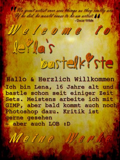 Leilas Bastelkiste Welcomej7st8