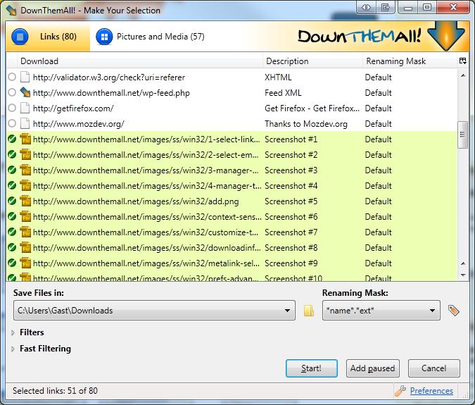 Gestor de Transferências (gratuito) da Microsoft 01-select-links