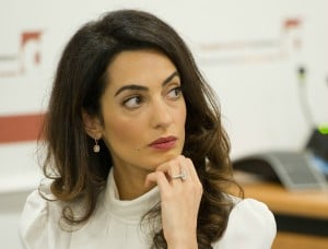Amal Clooney to Head Back to Lecture at Columbia Law School spring 2016 Amal-Clooney-Ring-300x228