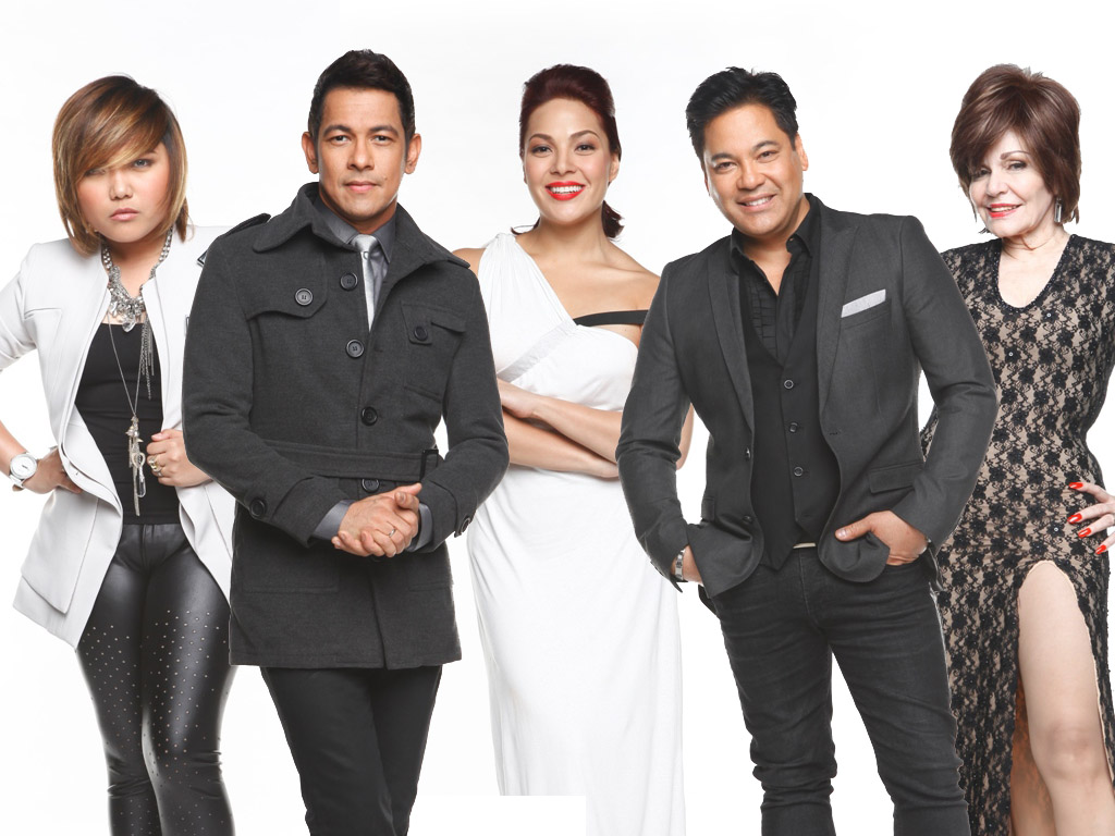"""07/18/12 - ABS-CBN PR - """"The X Factor Philippines"""" Hopefuls Enter Boot Camp Week X-FACTOR-PHL-JUDGES-AND-HOST"""