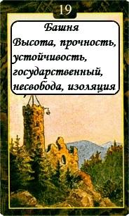 «Мистическо-Магические значения карт Ленорман»  19