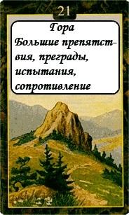 «Мистическо-Магические значения карт Ленорман»  21