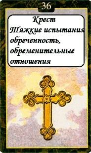 «Мистическо-Магические значения карт Ленорман»  36