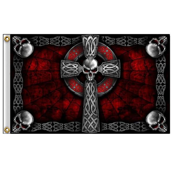 Accessoires de Bikers Drapeaux-celtic-cross