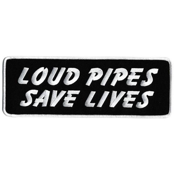 Accessoires de Bikers - Page 2 Patch-loud-pipes-save-lives-grand-accessoires-motard