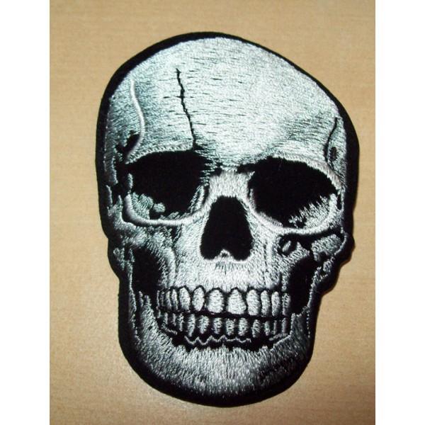 Accessoires de Bikers - Page 2 Patch-skull-silver-accessoires-motard