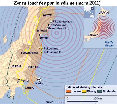 Opération Yashima lancée au Japon ( suite aux séismes) Japon-zones-seisme-mars-2011