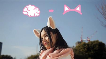 [gadget] Necomimi, les oreilles de chat contrôlés par le cerveau Neuroneko-001