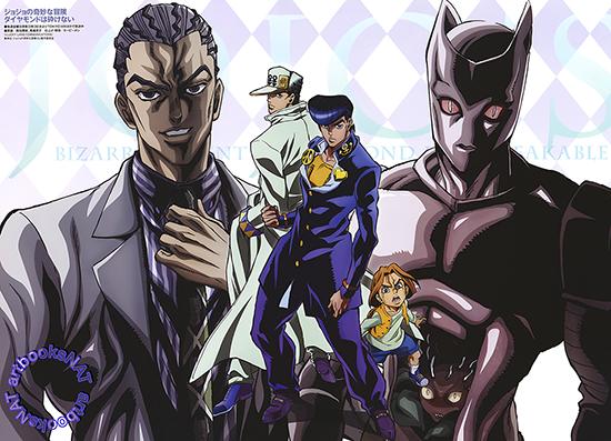 Meilleurs animes de l'année 2016 Jojo-Diamond-is-Unbreakable-anime-illustration-77