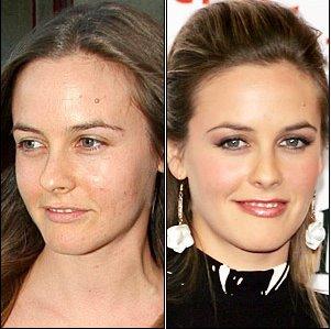Διάσημοι χωρίς μακιγιάζ Aliciasilverstone