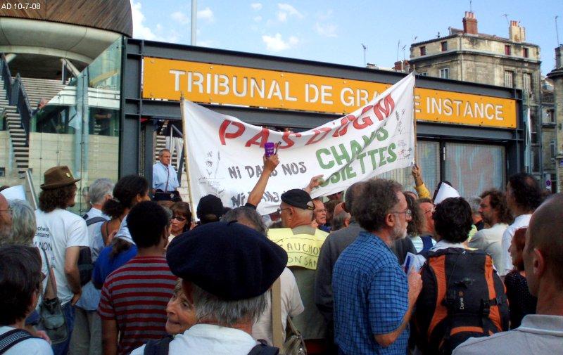Vidéo procès OGM de Lugos du 10/7 2