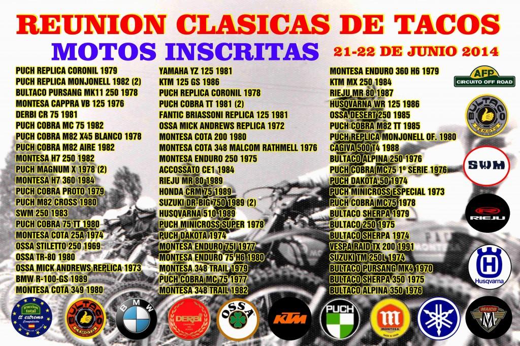 Reunión De Clásicas De Tacos 21-22 Junio 2014 - Villaviciosa (Asturias) LISTADO-MOTOS-INSCRITAS-CARTEL-5-1024x682