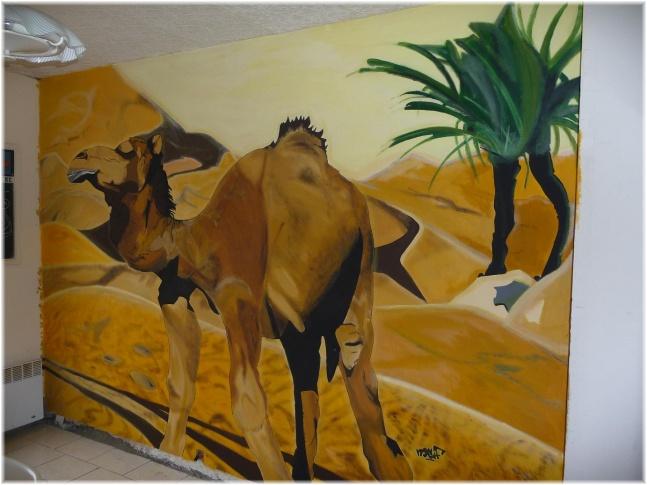réalisation de fresque type graffiti Cham1